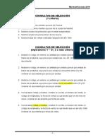 Práctica #2 - Consultas de Selección