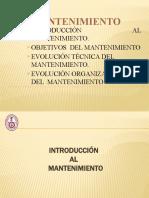 1.- Introducción y Objetivos del Mantenimiento (1)