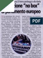 """La petizione """"no box"""" al Parlamento Europeo - 20110310_CronacaQui"""