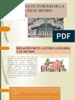 CAPITULO IV. FUNCION DE LA IGLESIA EN EL MUNDO ACTUAL pdf clase