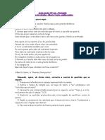 Ficha de avaliação - Alberto Caeiro, É noite