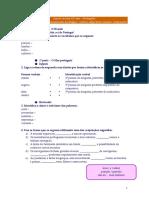 Ficha de preparação - A Mensagem, funcionamento da língua