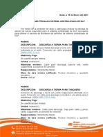 Especificaciones Técnicas Mercado de Machachi - Adicionales