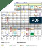 calendario scolastico regionale 2020-2021 prospetto