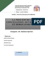 LA PROCEDURE DE CONCILIATION  ( modifications)-2