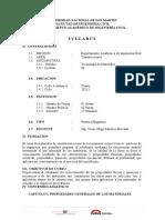 Syllabus - Tegnologia de Materiales.