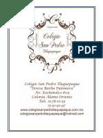 informes 2014-2015 Colegio San Pedro