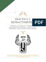 PRÁCTICA DE REFRACTOMETRÍA