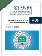 Le marketing digital et son rôle dans le développement des entreprises
