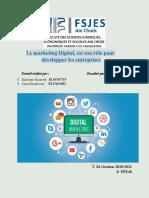 Le marketing Digital Plan 2