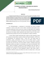 327. GERAÇÃO DE ENERGIA ELÉTRICA POR MEIO DO EFEITO PIEZOELÉTRICO