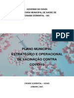 Plano de vacinação COVID Cidade Ocidental