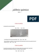 Equilibrio químico en reaccion quimica Kc y kp