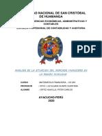 Análisi de La Sitiacion Del Mercado Financiero