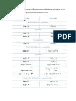 Derivada -Formulas y Ejercitarios