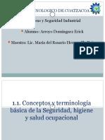 1.1. Conceptos y terminología básica de la Seguridad, higiene y salud ocupacional