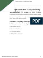 Comparativo y superlativo – más ejemplos, negaciones y preguntas