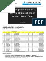 Archivo Excel Datos
