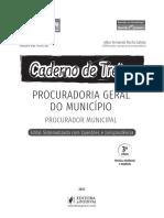 PÁGINAS CADERNO DE TREINO - PROCURADORIA GERAL DO MUNICÍPIO - PGM 2021