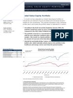 Global Value Equity Portfolio (March 2011)