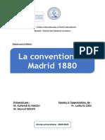La conventionde Madrid 1880 (Version finale)