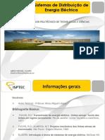 Cabos _Transformadores _Sistemas de Distribuição de energia Electrica_Aula 1