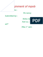 Assiginment of Mpob