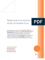 Music marketing plan templatepdf advertising publishing template for writing a music business plan friedricerecipe Images