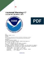 Tsunami Warning # 7  Issued at 1:33 Am Hst Fri Mar 11 2011