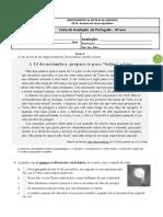 Teste de Português 6 º Ano 2017-2018