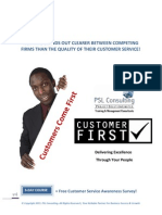 Customer FIRST Training Proposal
