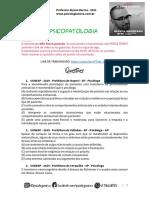 VUNESP Psicopatologia