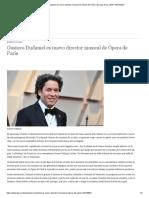 Gustavo Dudamel es nuevo director musical de Ópera de París _ Europa al día _ DW _ 16.04.2021