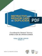 5. Instructivo para reducir casos de Duplicidad