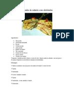 Lasanha de salmão com abobrinha