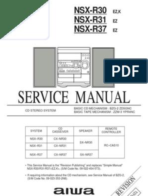 Service manual aiwa NSX-R37 | Loudspeaker | Capacitor