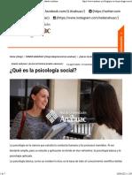 ¿Qué es la psicología social Blog Red de Universidades Anáhuac