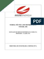 NTD-RE-001 Montagem de Redes de Distribuição Compacta Protegida – Classe 15KV