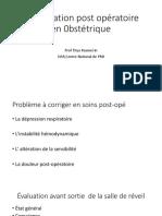 Réanimation post opératoire en 0bstétrique