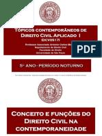 01-02-Conceito e funções do Direito Civil na contemporaneidade