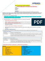LET´S EXCHANGE PERSONAL INFORMATION 1°.2°