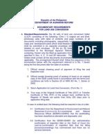LUC Checklist