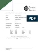 Sample of Mobile Computing Exam (June 2006) - UK University BSc Final Year
