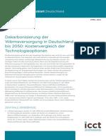 Dekarbonisierung der Wärmeversorgung in Deutschland bis 2050