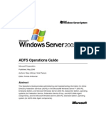ADFS Operations Guide