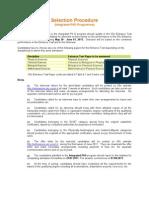IP Selection Procedure