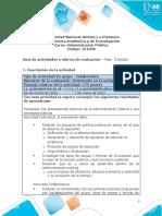 Guía de actividades y rúbrica de evaluación - Unidad 2 - Fase 3 - Decidir