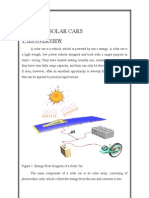 Solar Cars - the report