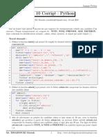 TD 10 Corrigé _ Python