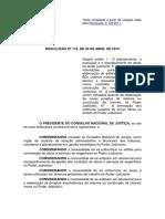 CNJ_Resolucao 114_2010 - Dispoe sobre planejamento e preços de obras no PJ